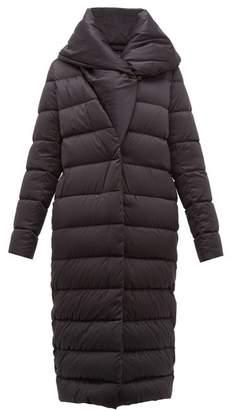 Herno Bon Bon Shawl Collar Nylon Coat - Womens - Black