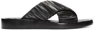 3.1 Phillip Lim Black Ruched Sandals $495 thestylecure.com