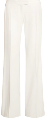 Stella McCartney - Canvas-trimmed Wool-twill Wide-leg Pants - Ivory $960 thestylecure.com