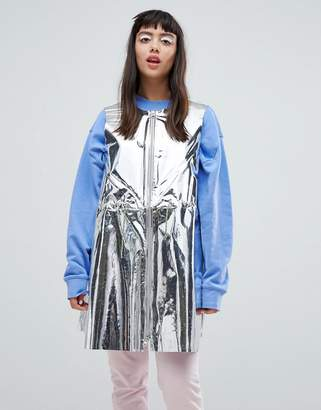 Weekday Press Collection Solar Metallic Foil Sleeveless Jacket