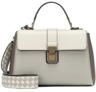 At Mytheresa Bottega Veneta Small Piazza Leather Shoulder Bag