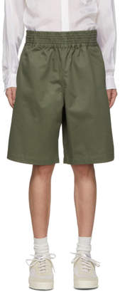Comme des Garcons Green Cotton Gabardine Shorts