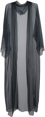 Rosetta Getty long sheer hooded coat