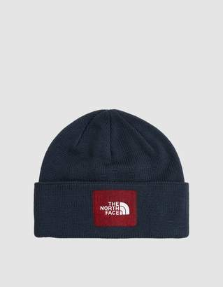 The North Face Black Box Felt Logo Beanie in Urban Navy