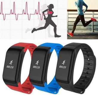 LESHP Waterproof Dustproof Sports Blood Pressure Oxygen Heart Rate Smart Bracelet Wrist Watch Support bl uetooth Camera Function F1