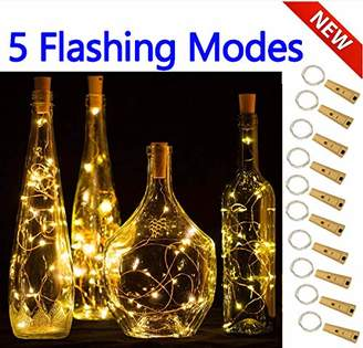 5 Dimmable Modes Timer Wine Bottle Lights with Cork