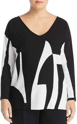 Marina Rinaldi Artista Printed Oversized Sweater