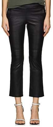 VIS A VIS Women's Leather Crop Kick Flare Pants