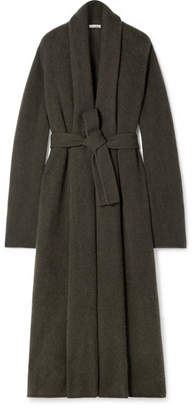 The Row Gioli Oversized Belted Cashmere-blend Cardigan - Army green