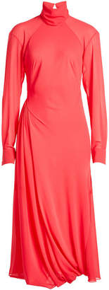 Victoria Beckham Draped Dress with Turtleneck