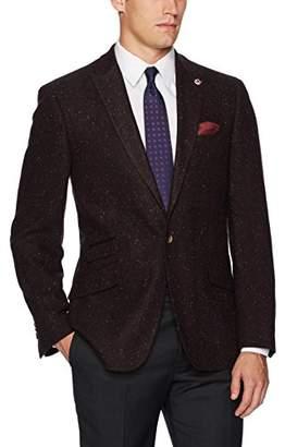 Ben Sherman Men's Two Button Slim Fit Donegal Sportcoat
