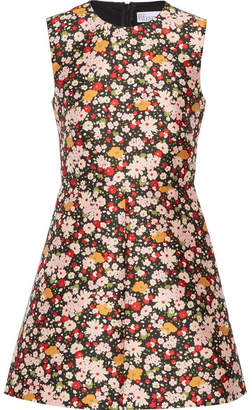 REDValentino - Chelsea Floral-jacquard Mini Dress - Black $555 thestylecure.com