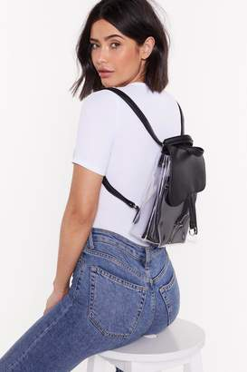 Nasty Gal WANT Pack Your Bags Perspex Faux Leather Backpack