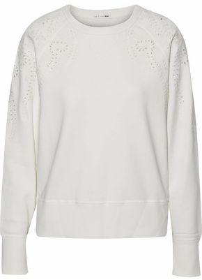 Rag & Bone Cutout Embroidered Cotton-Terry Sweatshirt