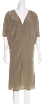 Hache Silk Midi Dress