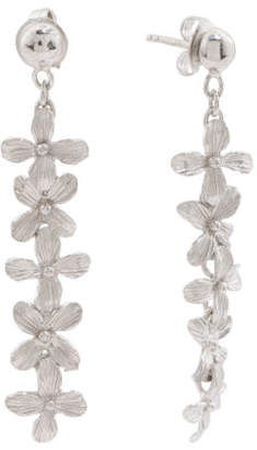 Made In Bali Sterling Silver Floral Linear Earrings