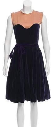 Lanvin Silk Knee-Length Dress