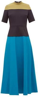 Roksanda Mauna Panelled Cady Midi Dress - Womens - Multi