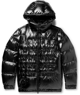 Moncler Genius 7 Fragment Makinnon Printed Shell Hooded Down Jacket