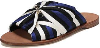 Diane von Furstenberg Bella Flat Slide Sandal with Bow