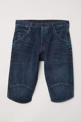 H&M Straight Denim Shorts - Blue