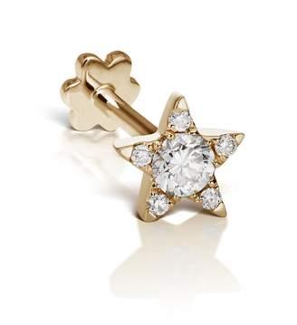 Maria Tash 5.5mm Diamond Star Threaded Through Single Earring - Yellow Gold