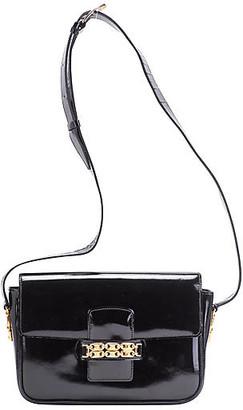 One Kings Lane Vintage Celine Black Patent Shoulder Bag - Vintage Lux