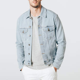 DSTLD Mens Denim Jacket in Light Wash