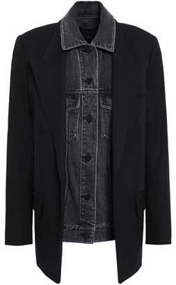 Alexander Wang Layered Denim And Wool Jacket
