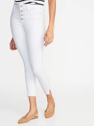 Old Navy High-Rise Secret-Slim Pockets Button-Fly Rockstar Raw-Edge Ankle Jeans for Women