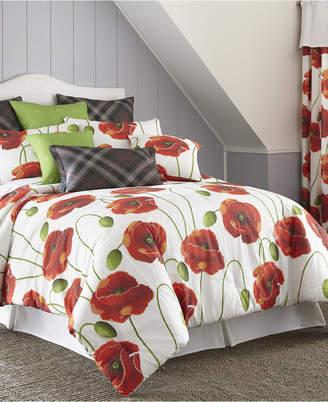Co Colcha Linens Poppy Plaid Duvet Cover Set Super King Bedding