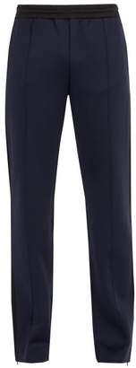 Valentino - Side Stripe Stretch Jersey Track Pants - Mens - Navy