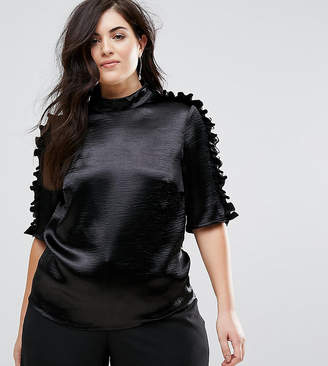 Lovedrobe Slinky Blouse With Pleated Seam Detail