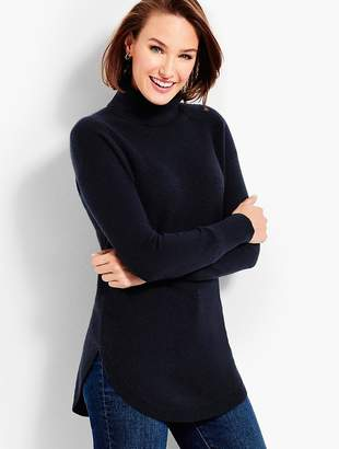 Talbots Textured Cashmere Turtleneck