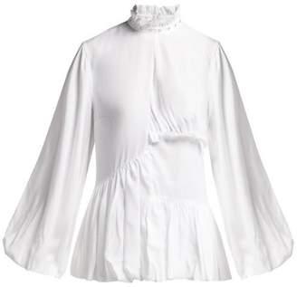 Marques Almeida Marques'almeida - Ruffled Woven Blouse - Womens - White