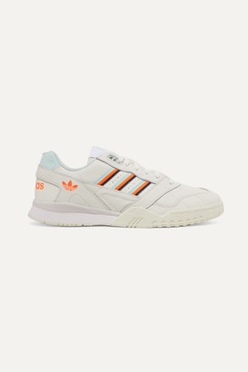 adidas A.r. Trainer Grosgrain-trimmed Quilted Leather Sneakers - Off-white
