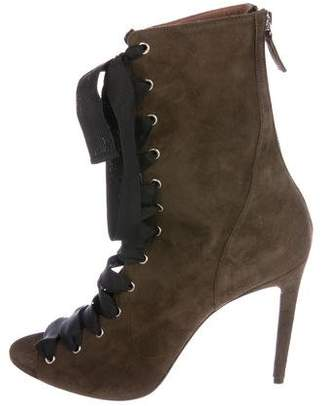 Tabitha Simmons Suede Lace-Up Booties