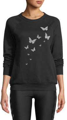 Swarovski Ultracor Butterfly Crewneck Sweatshirt