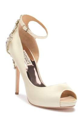 Badgley Mischka Badgley Micshka Karson Embellished Peep Toe Pump