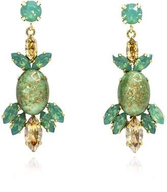 Rosaspina Firenze - Green Opera Chandelier Earrings