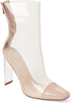 Wild Diva Lounge Nude Renzo PVC Ankle Booties