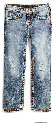 True Religion STRAIGHT FIT BIG T ACID WASH JEAN