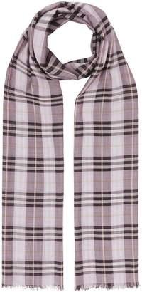 Burberry Vintage Check Lightweight Wool Silk Scarf