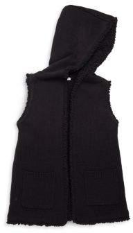 Splendid Girl's Hooded Sherpa Vest
