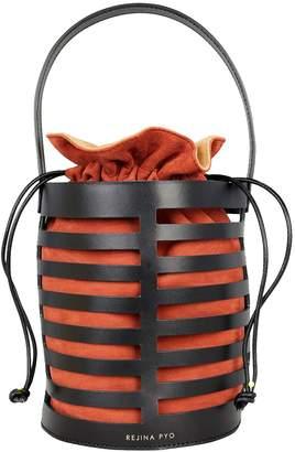 Rejina Pyo Erin Black Leather Cutout Bag