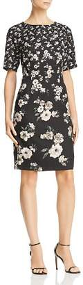 Adrianna Papell Floral Crepe Dress