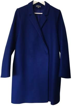 Cos Blue Wool Coat for Women