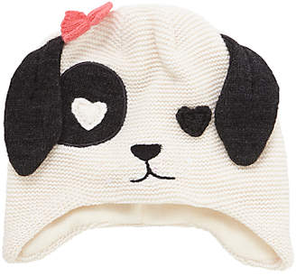 John Lewis & Partners Children's Novelty Dalmatian Trapper Hat, Black/White