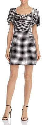 leRumi Violet Smocked Gingham Mini Dress