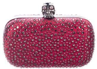 Alexander McQueen Embellished Skull Box Clutch